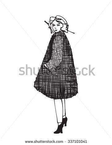 Woman Golfer 2 Retro Clip Art Stock Vector 61636087.
