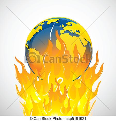 Vector Clip Art of global warming.