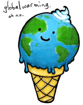 Global warming clip art.
