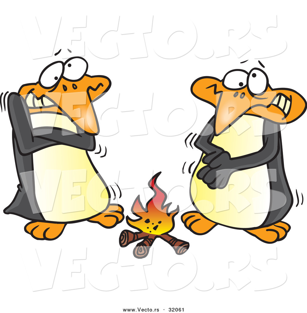 Warming camp fire clipart.