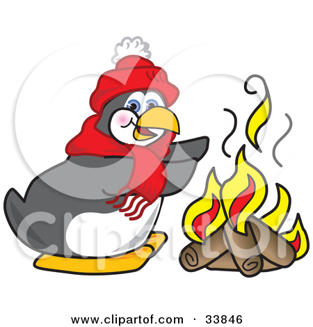 Warmth by fire clipart.