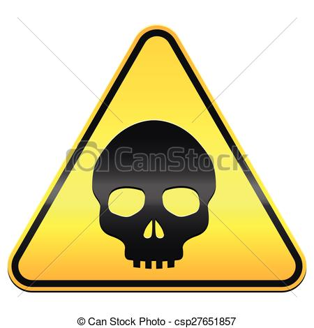 Clip Art of Hazard warning sign in yellow and black. csp2307172.