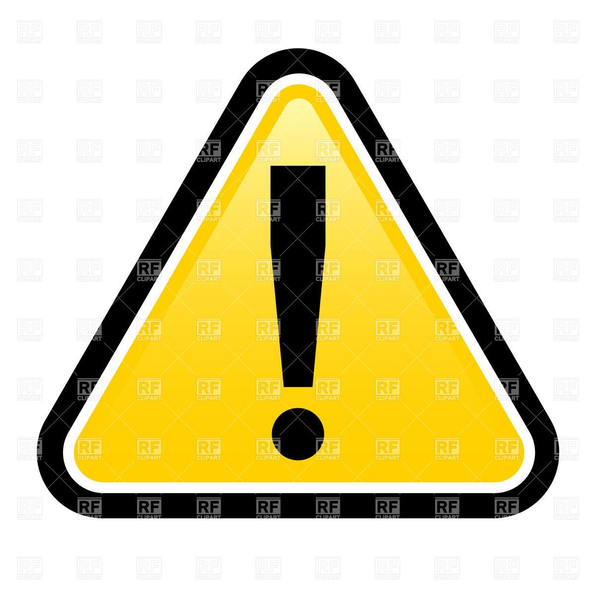 Danger warning sign Vector Image #6361.