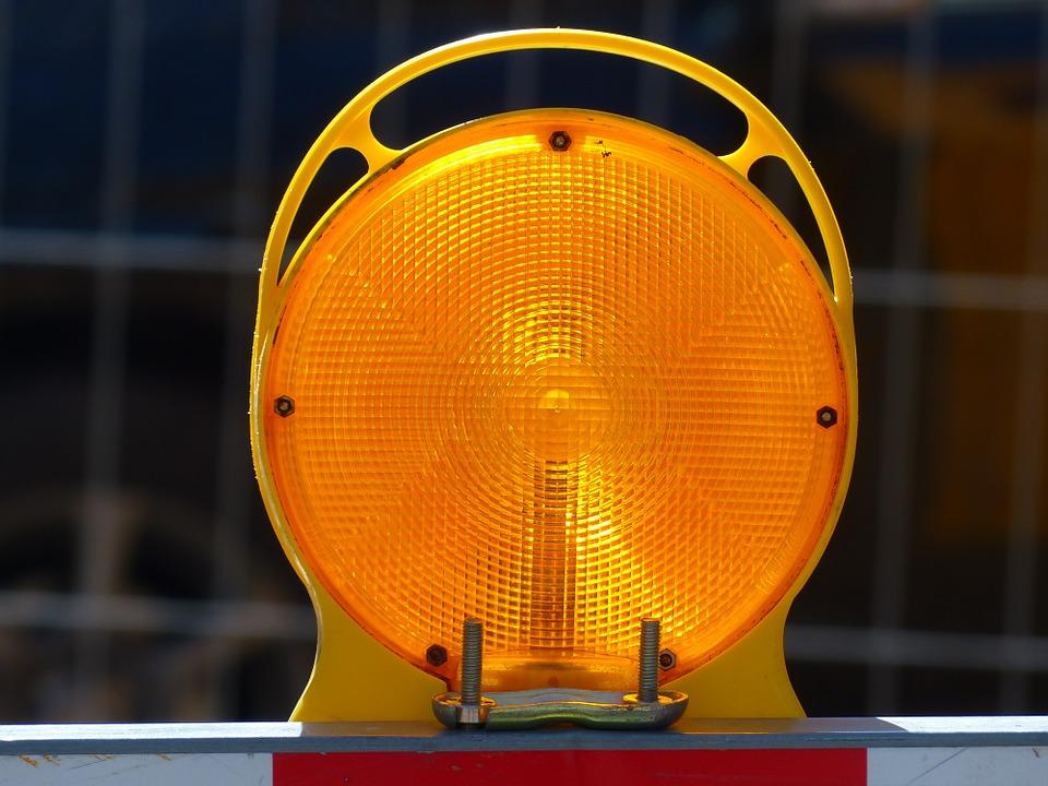 Free photo Warning Light Warnblinkleuchte Warning Lamp.