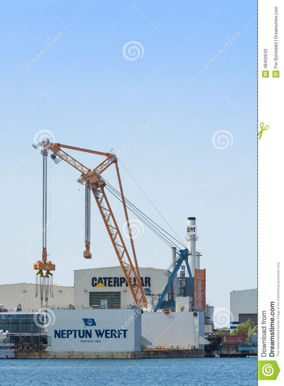 Shipyard Warnemunde Editorial Photography.