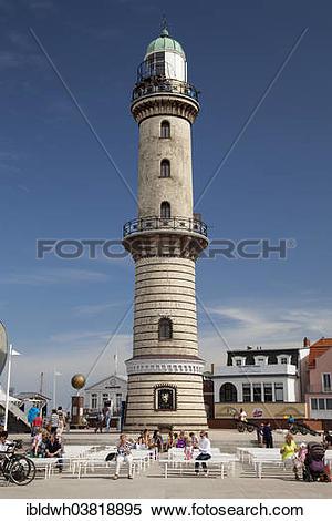 "Stock Image of ""Lighthouse, Warnemunde, Rostock, Mecklenburg."