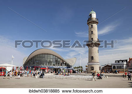"""Stock Image of """"The Teepott, teapot, building and the lighthouse."""