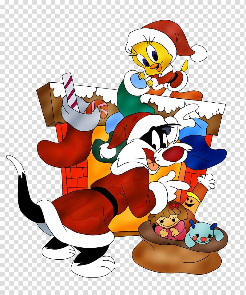Tweety Sylvester Bugs Bunny Looney Tunes Christmas, cartoon.