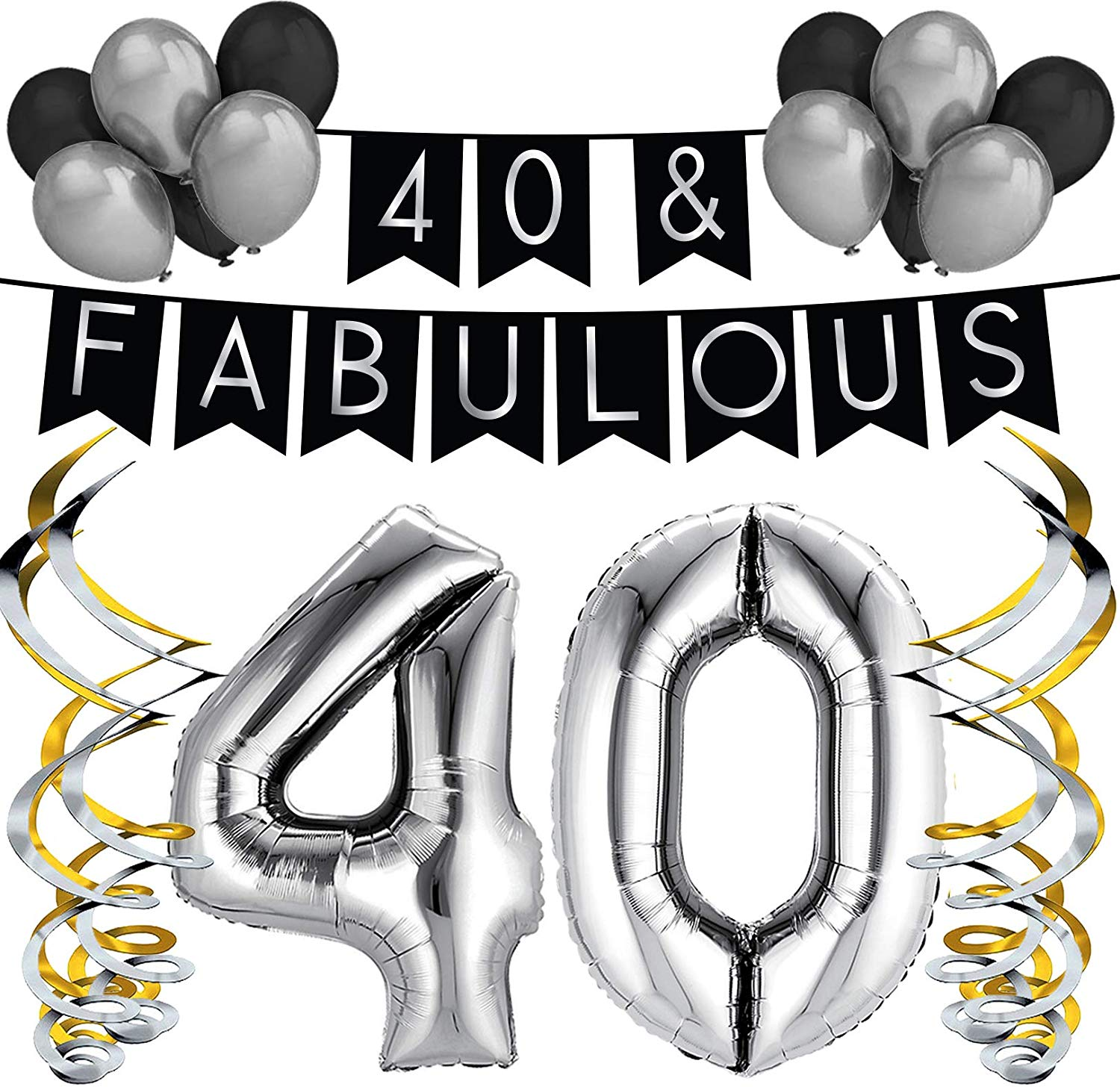 Sterling James Co. 40 & Fabulous Birthday Party Pack.