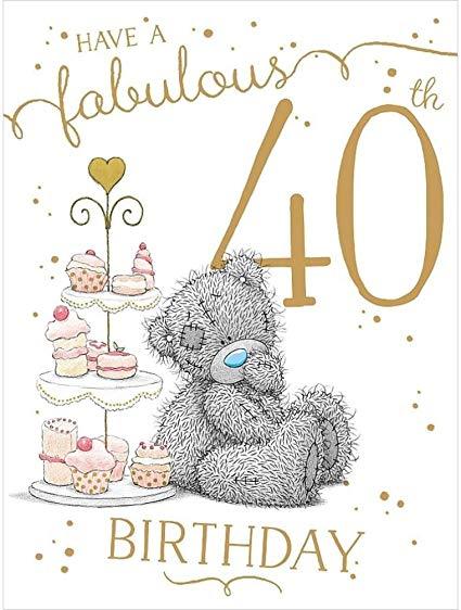 Amazon.com: Fabulous 40th Me to You Bear Age 40 Birthday.