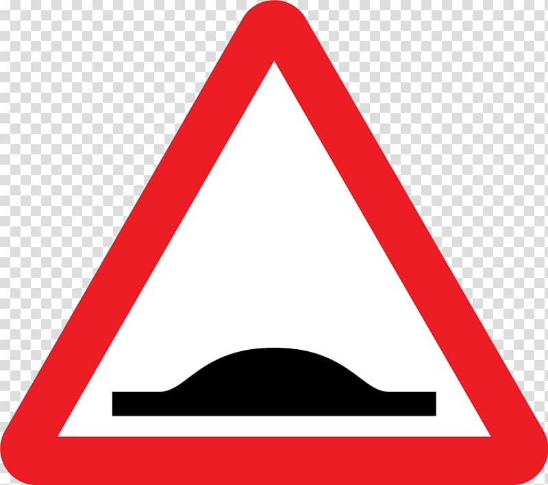 Speed bump Traffic sign Road Warning sign, Traffic Signs.