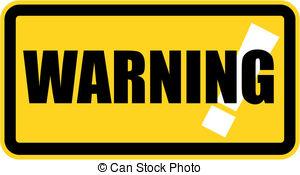 Warning clip art.