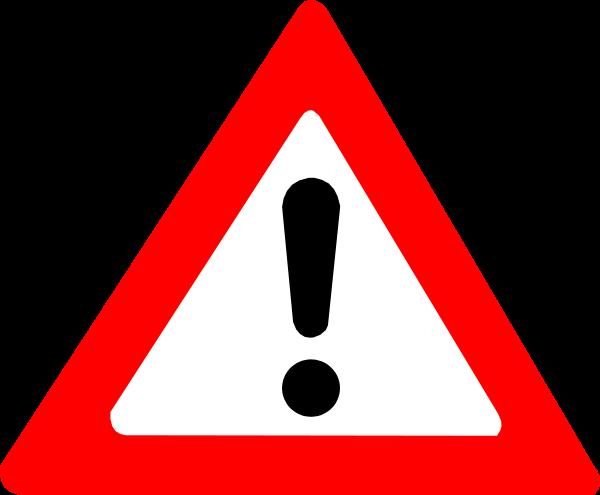 Warning clip art clipart 2.