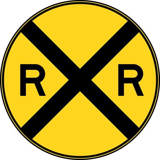Railroad Crossing Sign Clip Art.