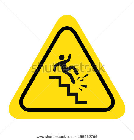 Falling Down Stairs Stock Images, Royalty.