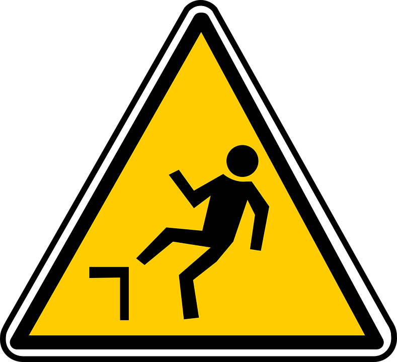 Free vector graphic: Falling, Hazard, Warning, Caution.