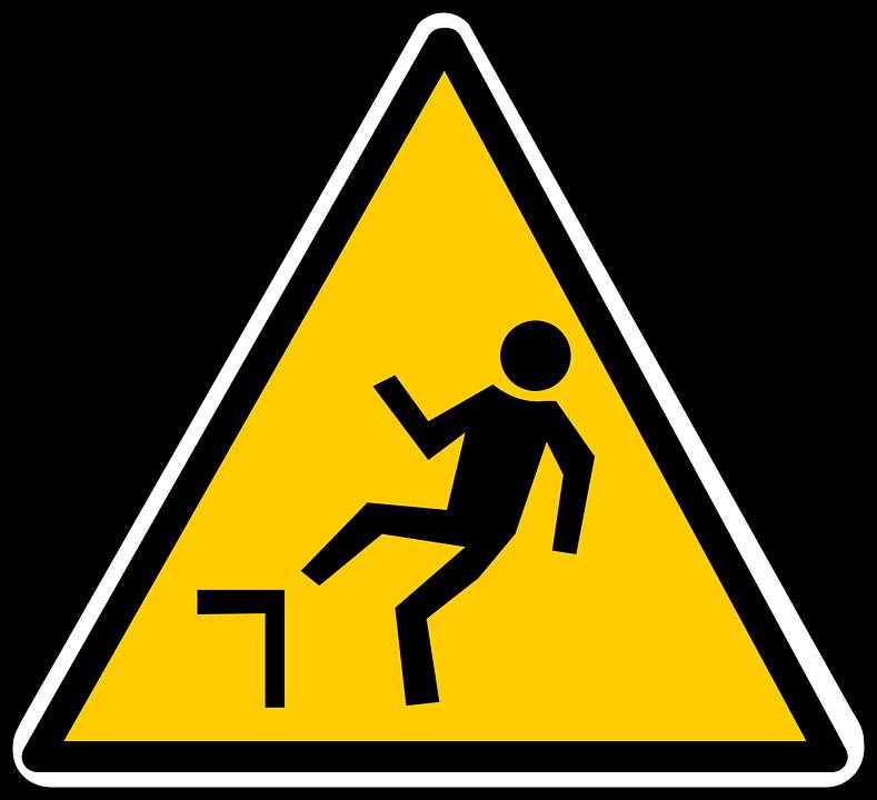 Free vector graphic: Falling, Hazard, Warning, Caution.