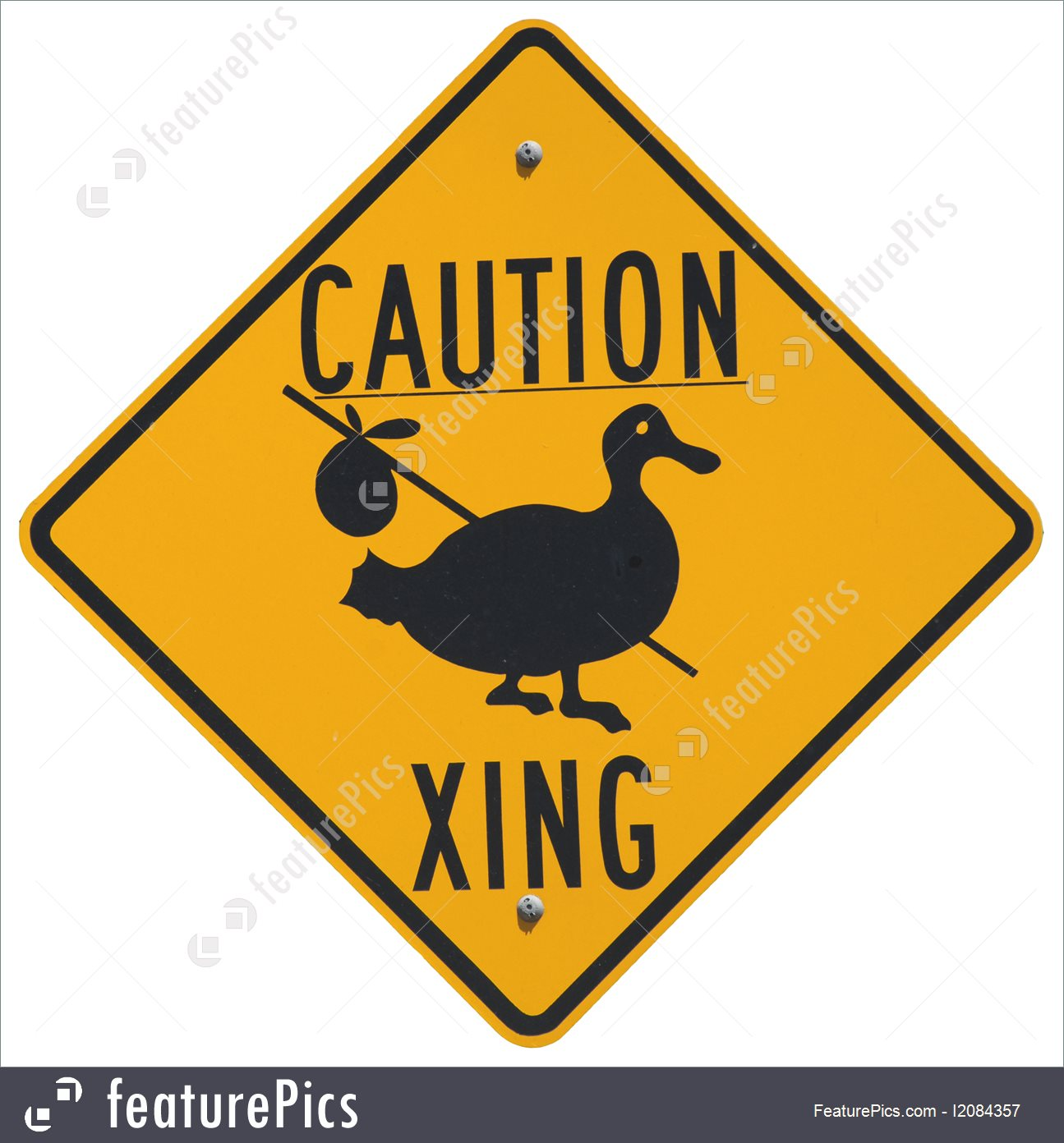Picture Of Caution Goose Crossing.