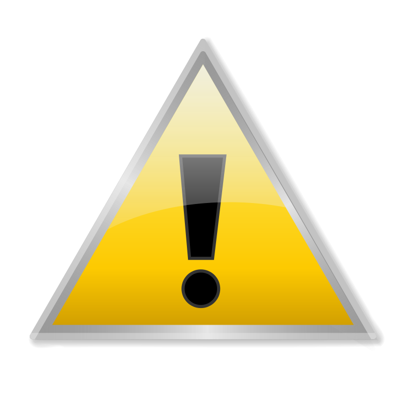 Free Clipart: Warning icon.