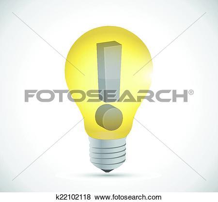 Clip Art of warning light bulb illustration design k22102118.