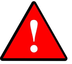 Warning light clipart.