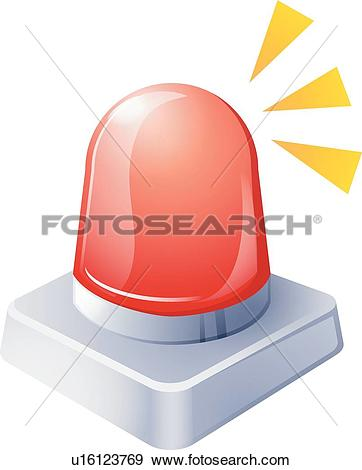 Clip Art of icons, warning light, warning, Security, icon.