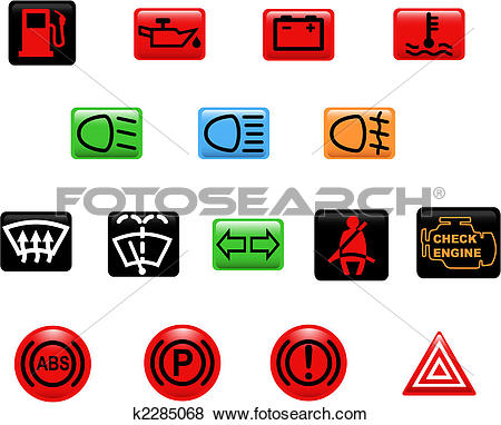 Clip Art of Car warning lights k2285068.
