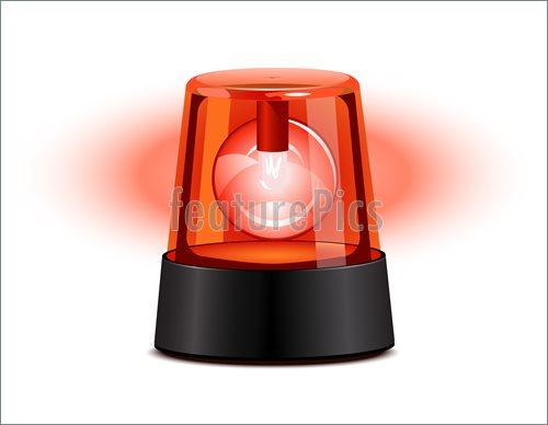 Red Warning Light Clip Art.