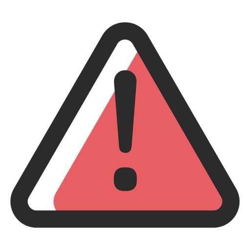 Warning sign colored stroke icon.