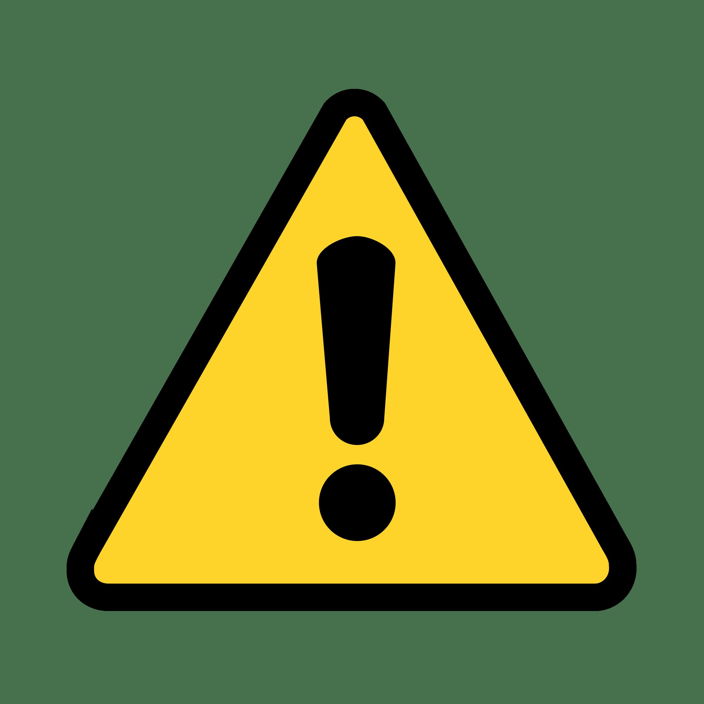 Warning Icon transparent PNG.