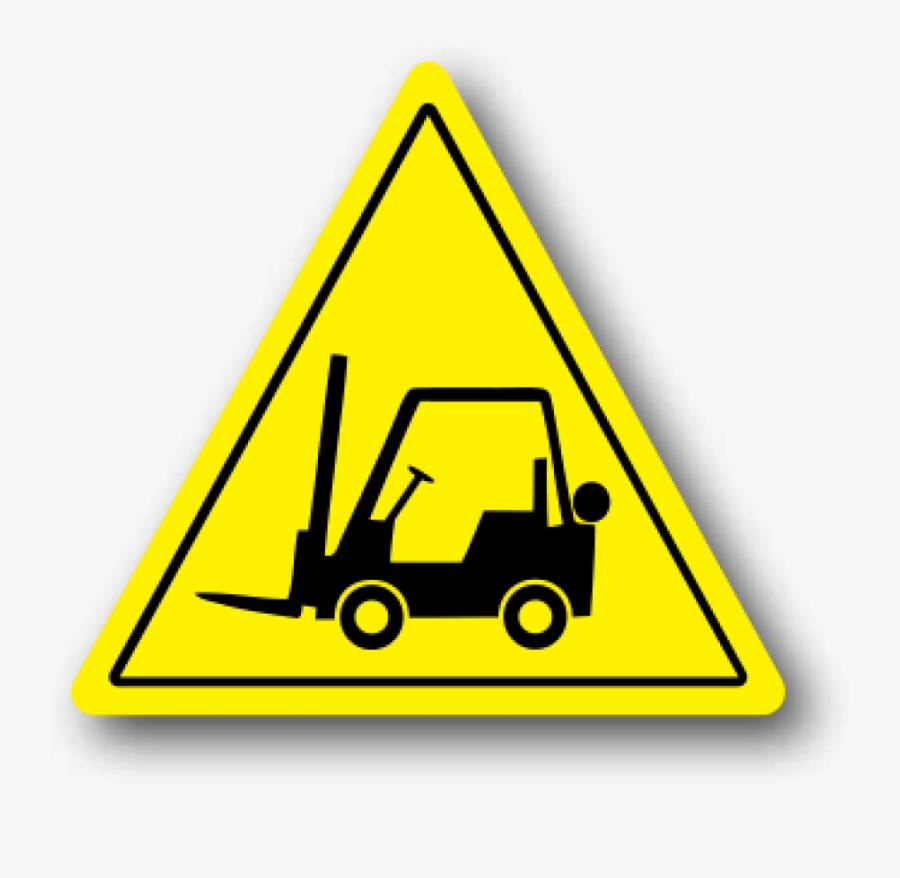 Durastripe Forklift Floor Safety Sign, Yellow Triangle.