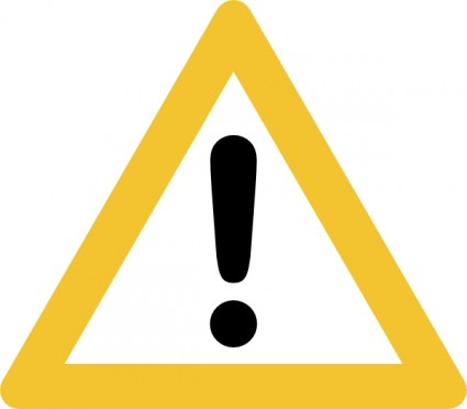 Warning Sign Clip Art.