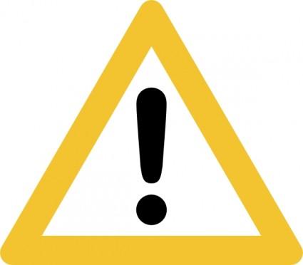 Warning Sign Clip Art.