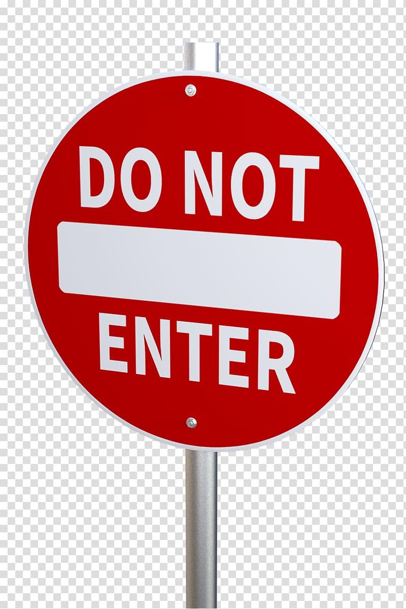 Warning sign, no entry sign transparent background PNG.