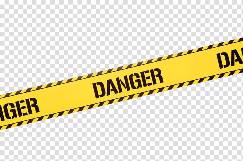 Danger signage illustration, Hazard Barricade tape , Yellow.