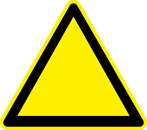 Clip art warning triangle.