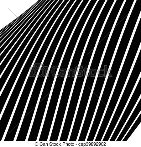 Vector Clipart of Distorted, warped lines geometric monochrome.