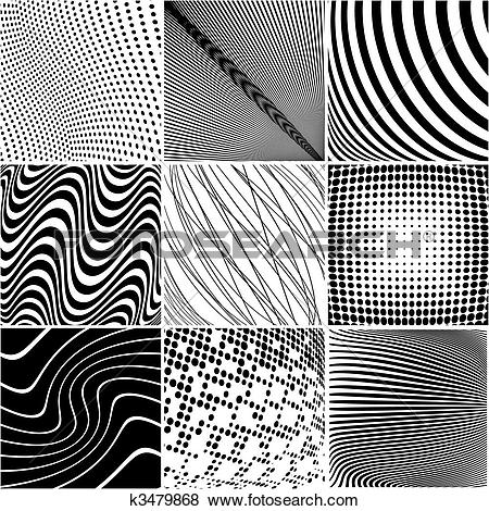Clip Art of Warped background k3479868.