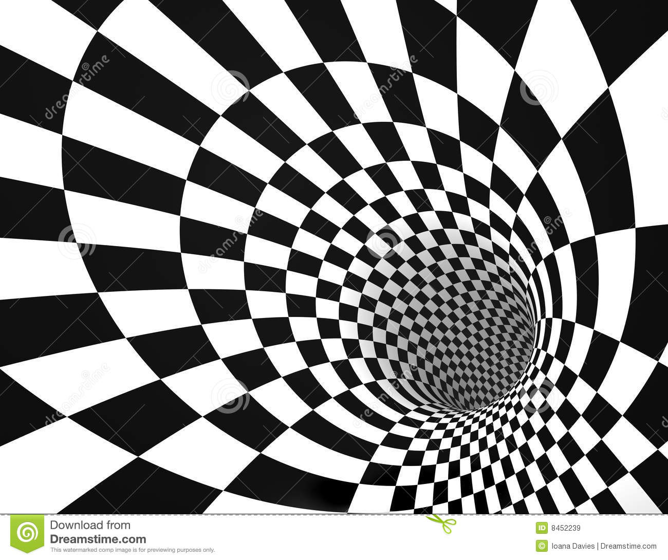 Warped Spiral Stock Illustrations.