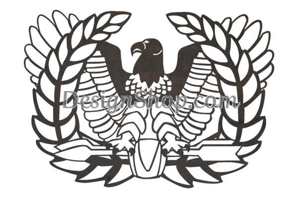 U.S. Army Warrant Officer Rising Eagle Stock Art.