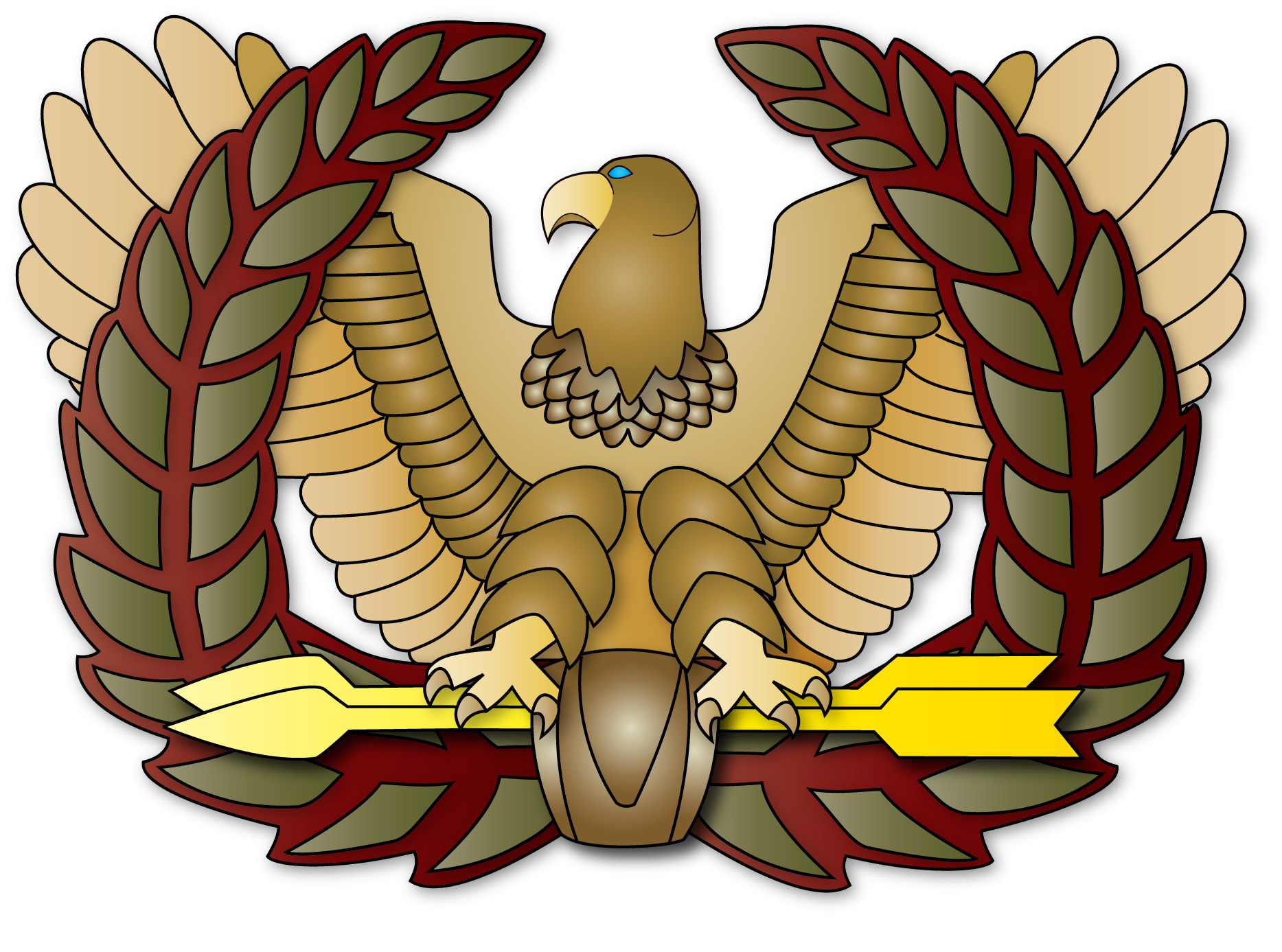 Warrant Officer Eagle Rising Clipart.