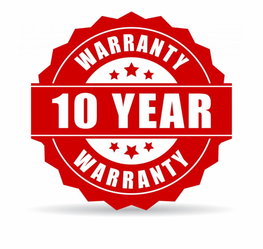 10 Year Warranty Png.