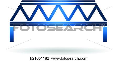 Clipart of Warren Blue Bridge type Logo k21651182.