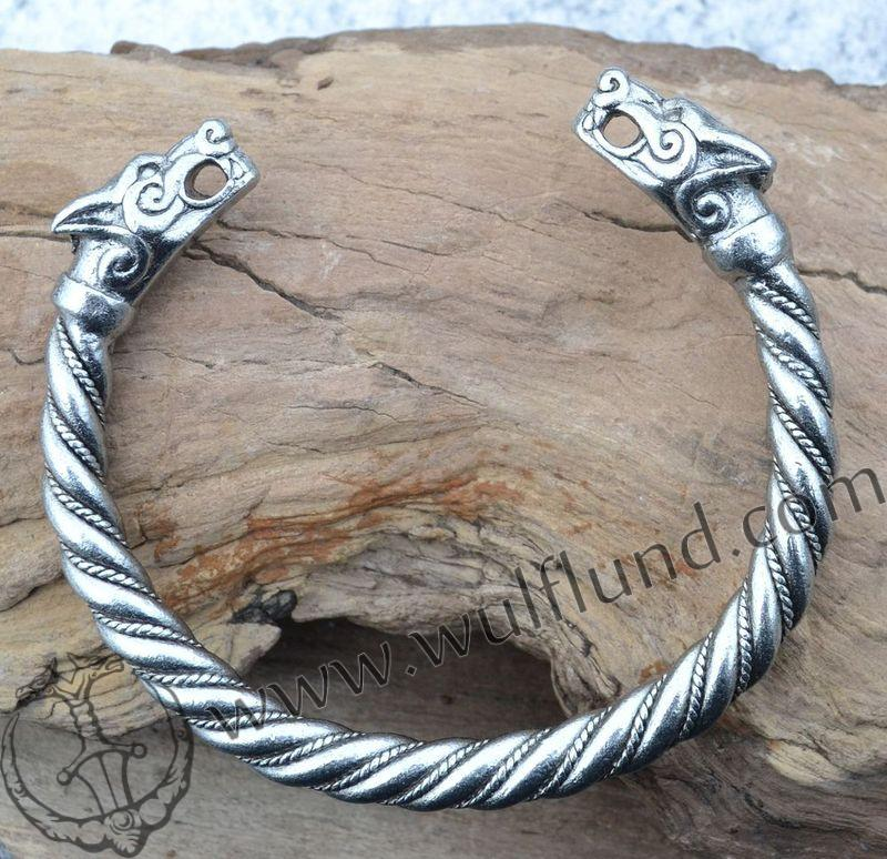 FENRIR,+viking+wolf+bracelet+.