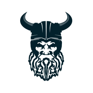 Viking Head Logo.
