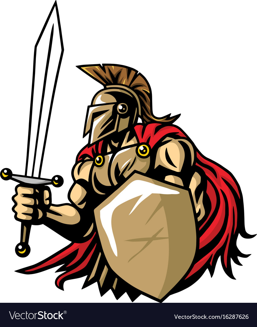 Spartan warrior mascot.