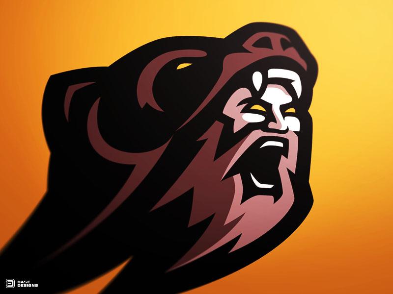 Berserker Warrior Mascot Logo by Derrick Stratton on Dribbble.