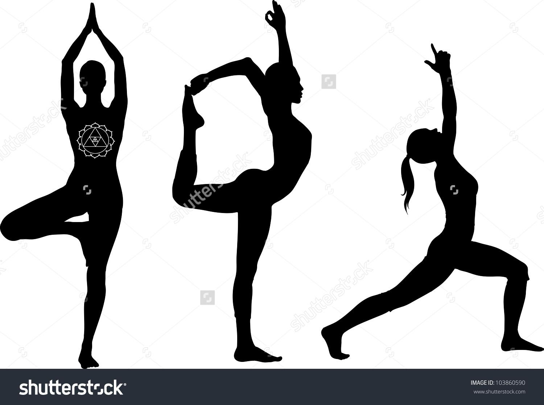Yoga Warrior Pose Clip Art.