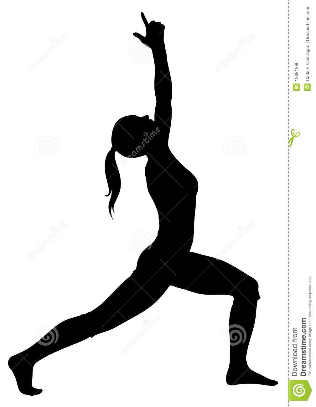 Yoga Warrior Pose Clipart.