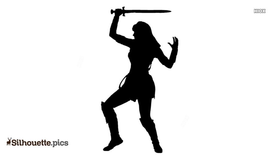 Xena Warrior Princess Clipart Silhouette @ Silhouette.pics.